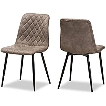 Amazon.com - Pasha Set of 2 Contemporary Velvet & Metal Side ...