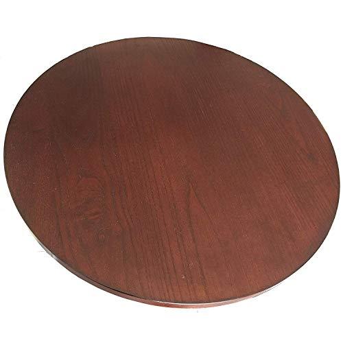 (CM 21-in Diameter Brown Wood Rotating Turntable Big Lazy Susan - 360 Degree Swivel)