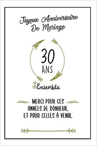 Buy Joyeux Anniversaire De Mariage Carnet Idée Cadeau