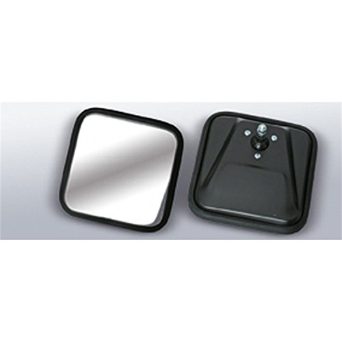 Rugged Ridge 11002.02 Black Square Convex Side Mirror Head