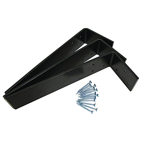 Weha 12 Inch X 2-1/2 Inch X 1/4 Inch L Shaped Counter Top Support Bracket Set of 3 Plus 12 screws
