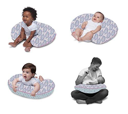 Bacati Sophia Paisley Nursing Pillow Cover with Insert, - Girl Baby Paisley Bedding