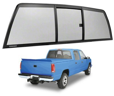 C.R. LAURENCE ETRV880S CRL Tri-Vent Three Panel Slider with Solar Glass for 1988-2000 Chevy/GMC C/K Trucks