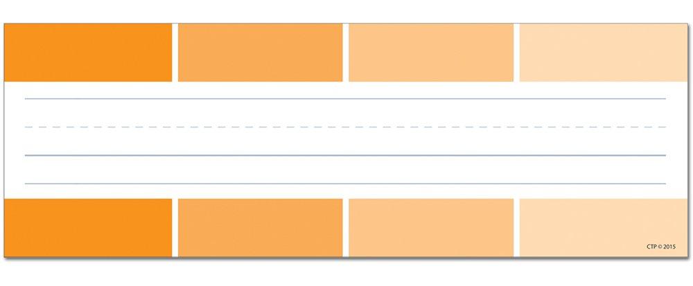 Creative Teaching Press Orange Paint Chip Name Plates (4454)