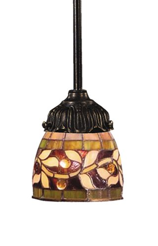 Elk 078-Tb-13 Floral Vine Mix-N-Match 1-Light Pendant, 23-1/2-Inch H, Tiffany Bronze ()
