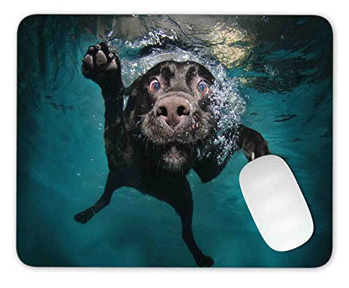 Underwater Dog Mouse pad Gaming Mouse pad Mousepad Nonslip Rubber Backing