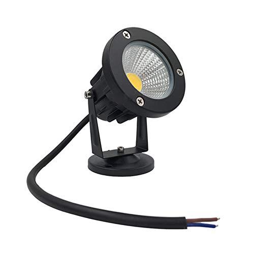 Luz de enchufe LED Lámpara de proyección de césped de jardín de aluminio fundido a presión COB 9W para exteriores...