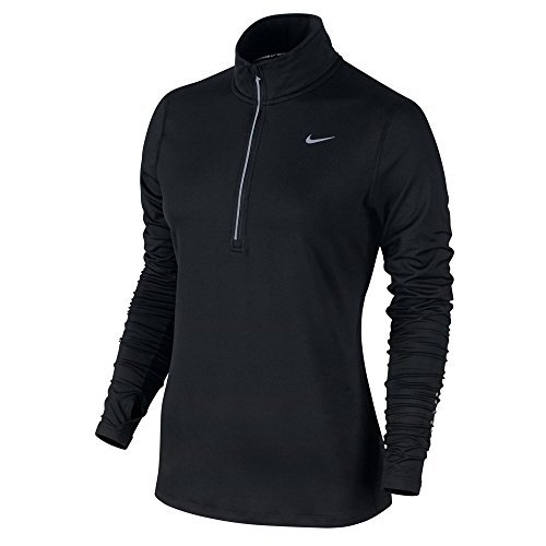 Nike Element Running Top, Black/Silver, Small by NIKE (Image #1)