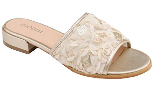 Niedriger Blockabsatz SHU Schuhe CRAZY Rüschen Damen On Dressy Damen Satin Pantoletten Sandalen Slip Sommer Peeptoe zSzvwRFx