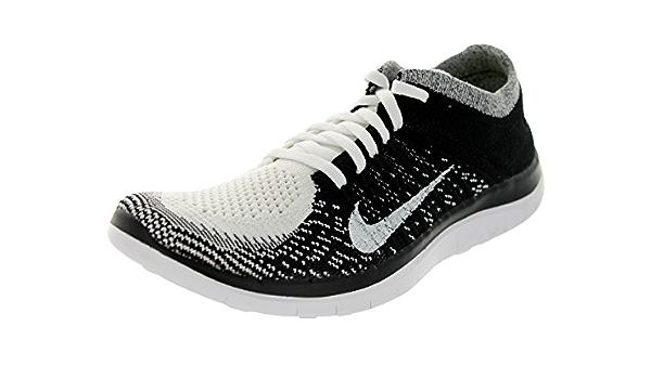 caldera Lírico Almacén  Amazon.com: Nike Free 4.0 Flyknit Mujer, color  blanco/blanco/negro/Zapatilla de Running Volt 5,5 Mujer US: Shoes