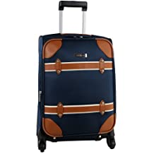 Anne Klein Vintage Edition 20-Inch Expandable Spinner, Navy, One Size