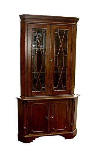 Amazon Com Classic 2 Door Solid Mahogany Corner Cabinet Kitchen