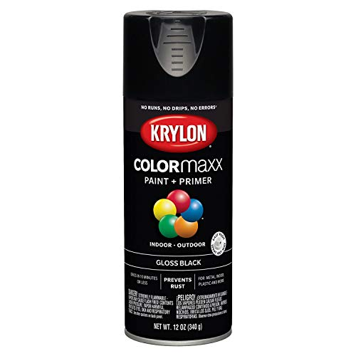 (Krylon K05505007 COLORmaxx Spray Paint, Aerosol, Black)