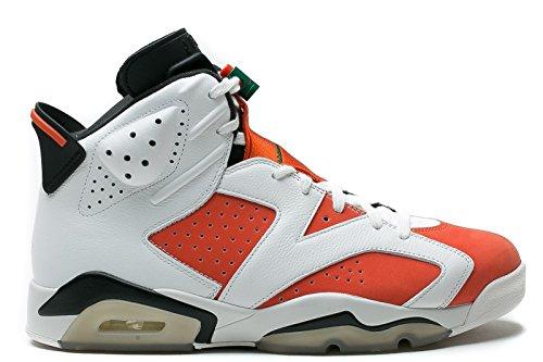 Jordan Retro 6'' Gatorade Summit White/Team Orange-Black (Big Kid) (5 M US Big Kid) by Jordan