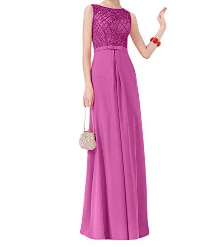 A Damen Bodenlang Spitze Abendkleider Orange Linie Charmant Modern Festlichkleider Rock Ballkleider Pink pwqxaTx8S