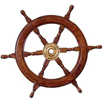 amazon com hampton nautical deluxe class wood and brass decorative