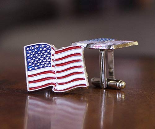 USA flag cuff links, United States flag cuffs, American cufflinks, USA novelty for men, 4th of July, Independence Day, history teacher