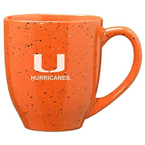 LXG, Inc. University of Miami - 16-ounce Ceramic Coffee Mug - Orange ()