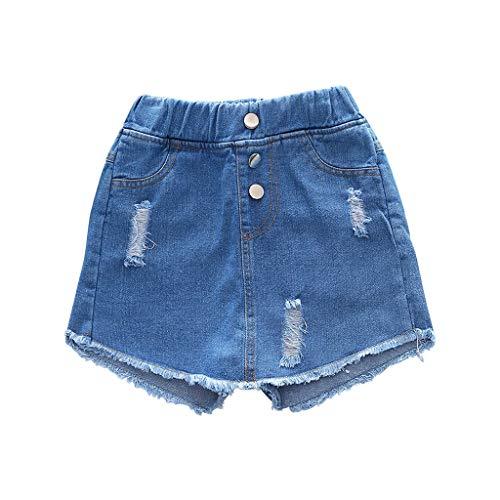 ❤️ Mealeaf ❤️ Bull-Puncher Skirt Girls' Fashion Cute Children's Clothes Denim Skirt(2Y-16Y)
