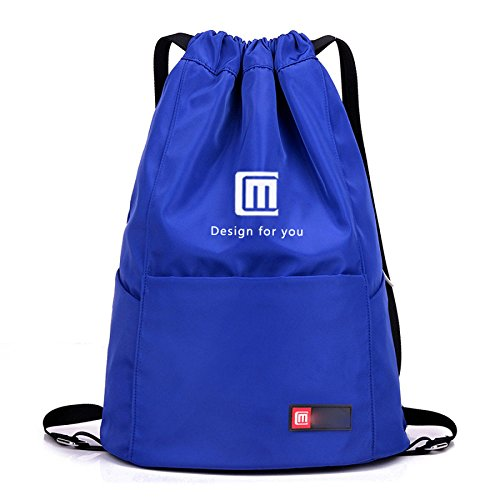 Sac d'épaule de voyage de Myll pour les hommes et les femmes, waterproofblacknopocket Sapphireblue