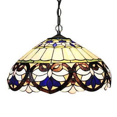 (2 - Light Tiffany Pendant Lights with Heart Pattern)
