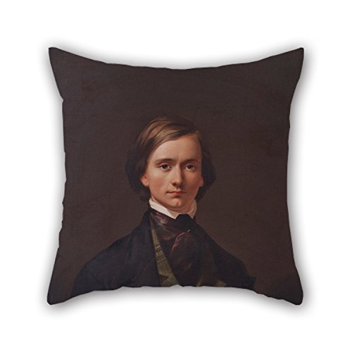 Pillow Covers Of Oil Painting Thomas Buchanan Reed - Thomas Buchanan Reed - Self Portrait,for Kids,bf,drawing Room,adults,dining Room,floor 18 X 18 Inch / 45 By 45 Cm(two Sides)
