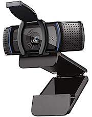 كاميرا ويب C920S HD Pro من لوجيتك، اتصال فيديو FHD 1080p/30fps، صوت ستيريو واضح، تصحيح اضاءة HD، حاجز خصوصية، تعمل مع سكايب وزووم وفيس تايم وهانج اوتس، كمبيوتر/ماك/لاب توب/ تابلت/Xbox - اسود