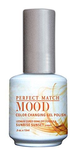 LECHAT Perfect Match Mood Gel Polish, Sunrise Sunset, 0.500