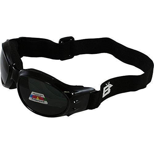 Birdz Eyewear Eagle Motorcycle Goggles (Black Frame/Polarised Smoke Lens) (Best Polarized Motorcycle Goggles)