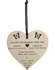 Bästa väninna födelsedagspresenter för män kvinnor vänskap personlig unik gåva träplattor tecken gåva speciellt trähjärta hängande tavlor tecken (fjäril)