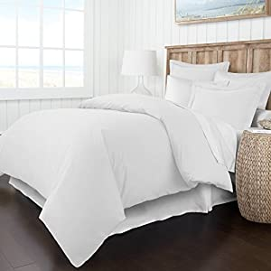 Italian Luxury Soft Brushed 1500 Series Microfiber Duvet Cover Set - Hotel Quality & Hypoallergenic with Zippered Closure & Matching Shams - King/California King - White