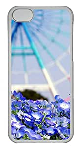Apple iPhone 5C Case - Landscape Wheel Blue Flowers Funny Lovely Best Cool Customize iPhone 5C Cover