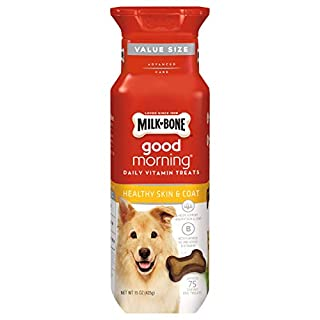 Milk-Bone Good Morning Daily Vitamin Dog Treats for Healthy Skin and Coat, 15 Ounces (Pack of 4)