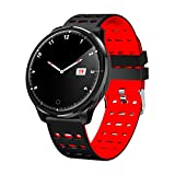 FuriGer Smart Watch with Bluetooth Fitness Tracker Color Touch Screen Heart Rate Monitor Activity Tracker Pedometer Sleep Monitor Blood Pressure IP68 Waterproof Sport Bracelet for Women/Kid,Red