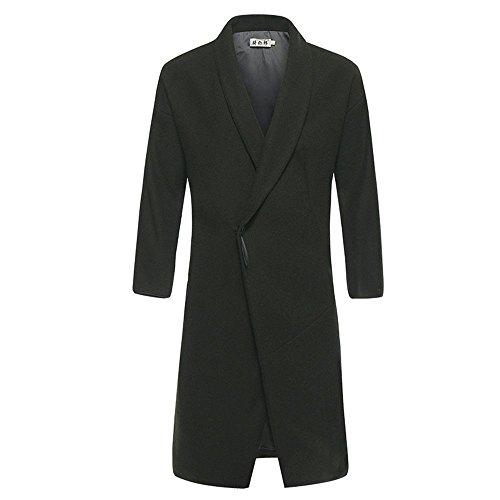 abrigo macho y de invierno el de de Verde paño otoño chaqueta China invierno S Slim lana largo viento abrigo El P1FfTw
