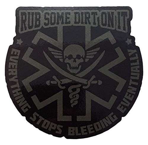 F-Bomb Morale Gear Rub Some Dirt On It - Bumper Sticker Decal (SWAT) ()