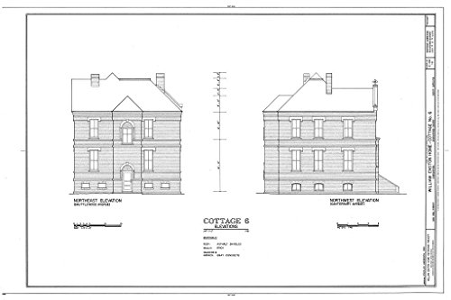 Historic Pictoric Structural Drawing HABS SC,10-Char,354B- (Sheet 4 of 4) - William Enston Home, Cottage No. 6, 900 King Street, Charleston, Charleston County, SC 66in x ()