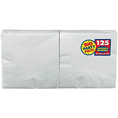 Amscan Silver Luncheon Napkins Big Party Pack, 125 Ct.: Kitchen & Dining