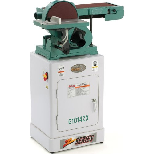 Grizzly G1014ZX Combination Sander with Cabinet Stand