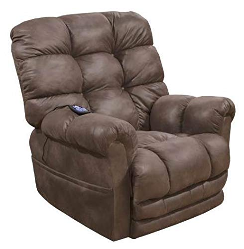 Catnapper Power Lift Recliner with Extended Ottoman in Dusk Finish by Catnapper