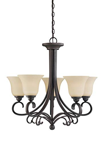 Sea Gull Lighting 31122EN3-820 Five Light Chandelier, Chestnut ()