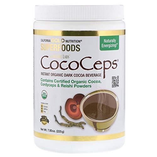 (California Gold Nutrition, CocoCeps, Instant Organic Dark Cocoa Beverage, 7.93 oz (225 g)  )