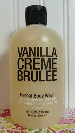 Hempz Vanilla Creme Brulee Herbal Body Wash 8.5 Fl Oz.