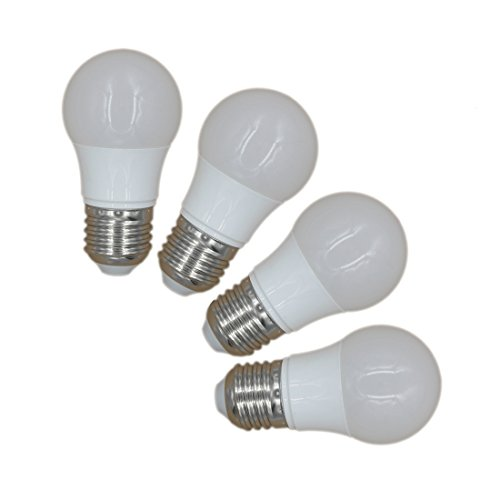 JOYLIT Pack 4Pcs LED Bulbs E27 Light Bulbs Warm white 3000-3500K A45 Globe Blub 3W Equivalent to Traditional 20W Bulb ()