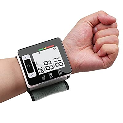FAM-health Automatic Wrist Blood Pressure Monitor FDA Approved with Portable Case, Two User Modes, Adjustable Wrist Cuff,IHB Indicator and 90 Memory Recall [2017 NEW VERSION] (Black)