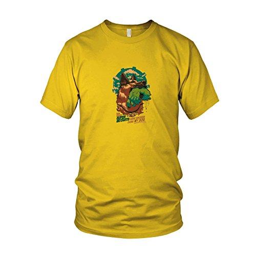 Super Mutant Dog - Herren T-Shirt, Größe: M, Farbe: gelb