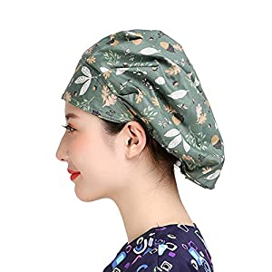 MAKEZTSD Hat Bouffant Cap Working Hat One Size Multi Color