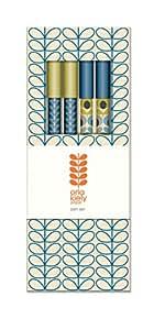 Orla Kiely Linear Stem Marine Paper Pen Set (Box of 6)