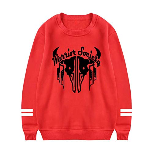 (NNaseg Womens Sweatshirt | Cool Tribal Cattle Skull Warrior Trend Element Printed Soft Cotton Long Sleeves t Shirt M)