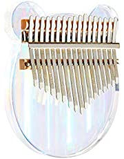 Kalimba Thumb Piano 17 Keys Rainbow Clear Musical Instruments, Mbira Finger Piano Gifts for Kids and Adults Beginners photo